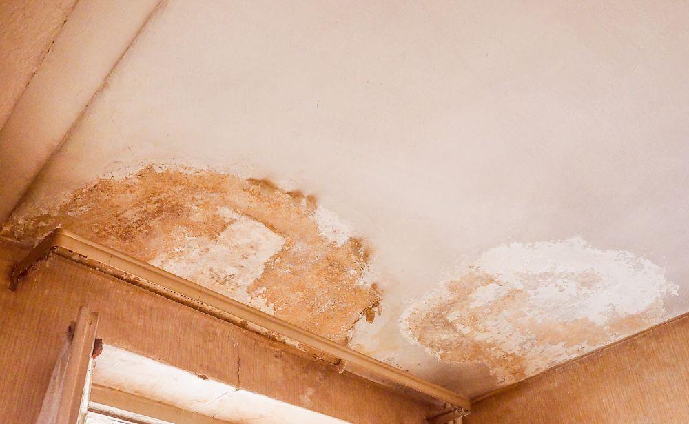 Infiltrazioni d'acqua dal terrazzo: un soffitto rovinato