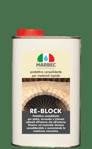MARBEC - RE-BLOCK 1LT | Protettivo consolidante per materiali lapidei