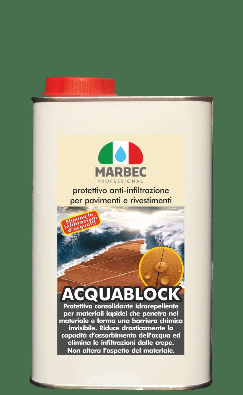Marbec | ACQUABLOCK 1 LT Protettivo consolidante anti infiltrazioni per rivestimenti e terrazzi