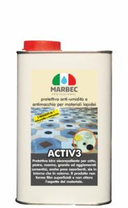 Marbec   ACTIV3 1LT Protettivo anti umidità di risalita e anti macchia per materiali lapidei