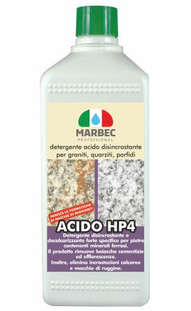 Marbec | ACIDO HP4 1LT Detergente disincrostante acido per graniti, quarziti, porfidi