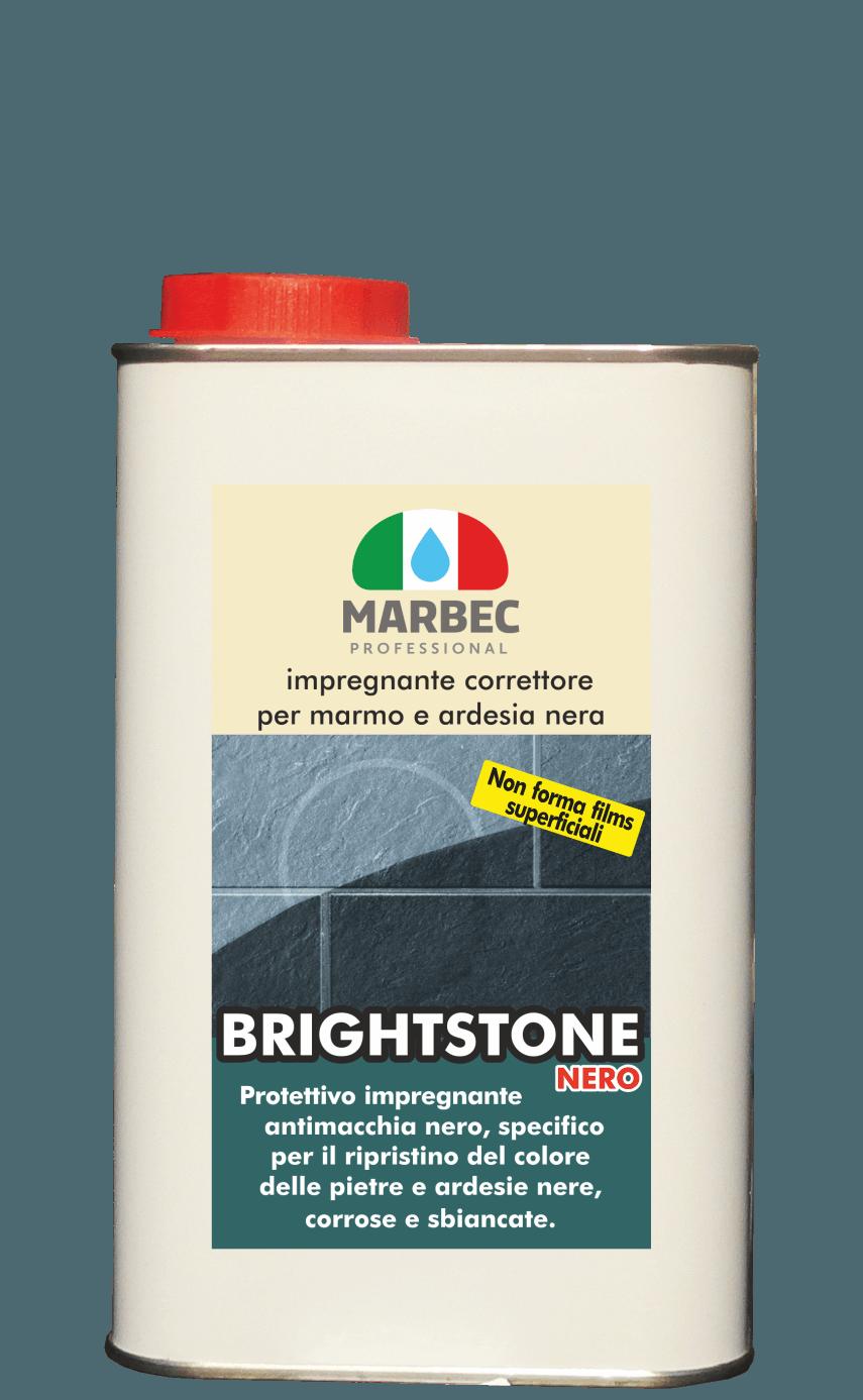 MARBEC | BRIGHTSTONE NERO Impregnante  correttore  per  marmo e  ardesia  nera