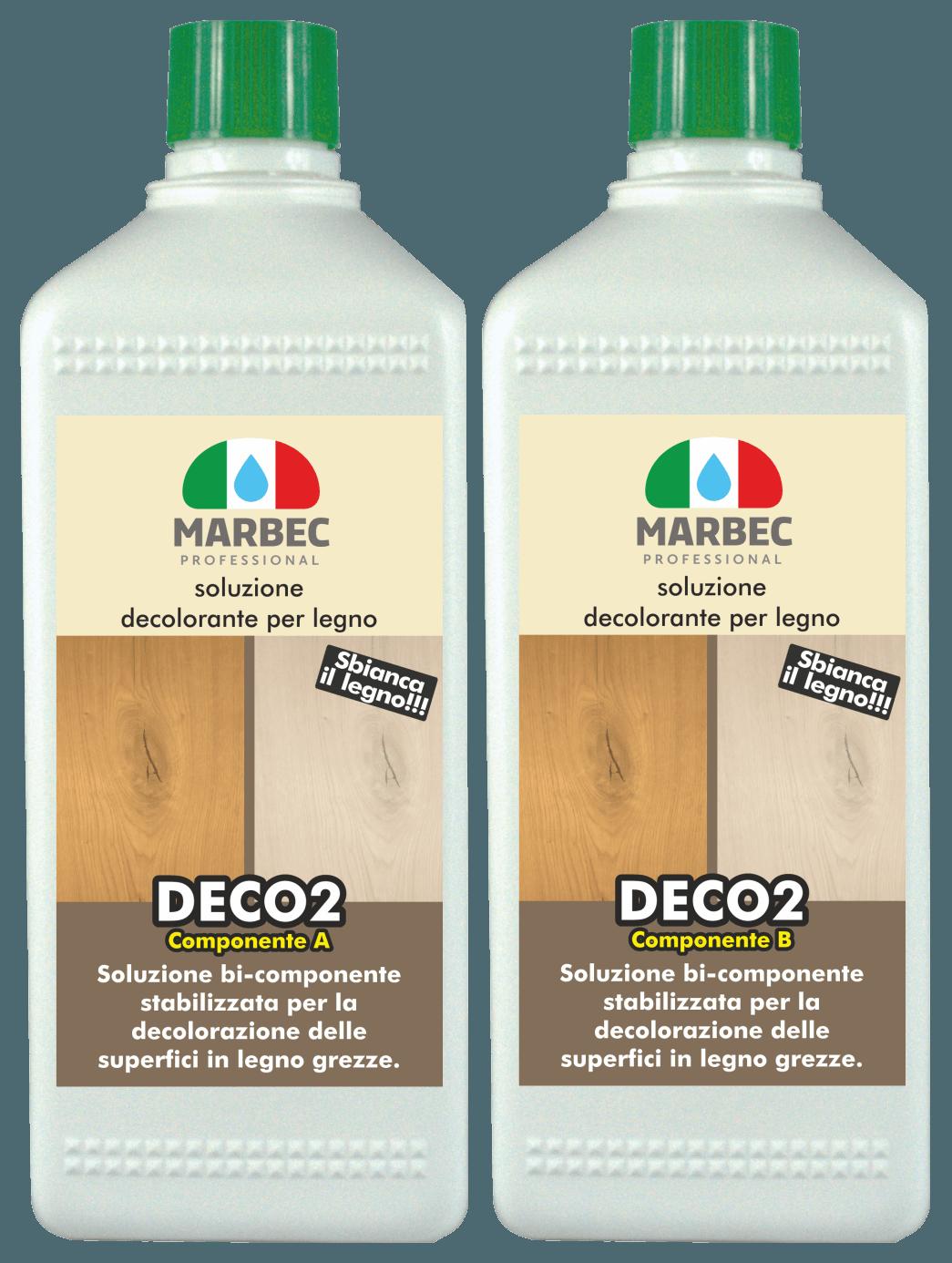 MARBEC | DECO2 1LT+500ML Soluzione decolorante per legno
