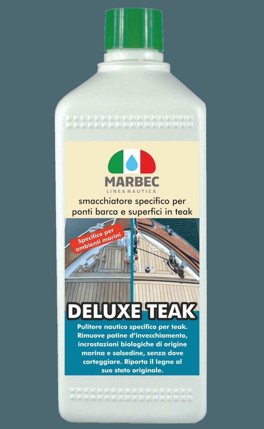 Marbec - DELUXE TEAK 1LT | Smacchiatore nautico specifico per ponti barca e superfici in teak