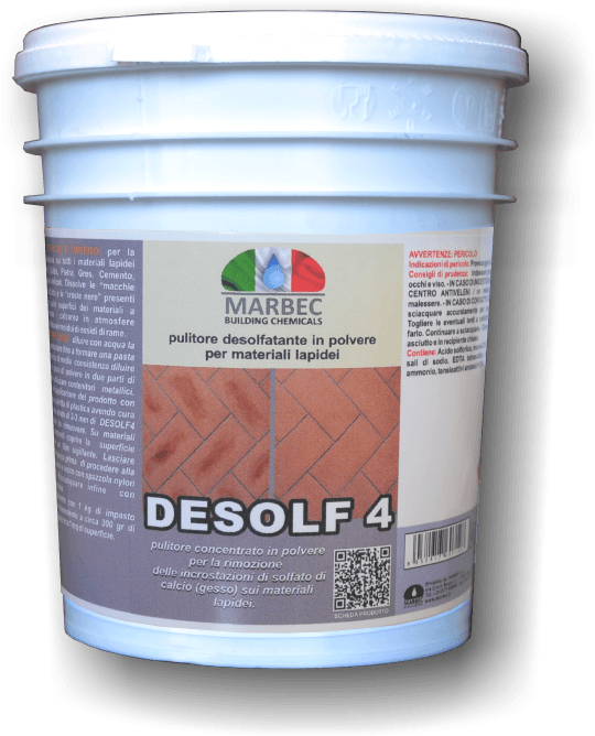 MARBEC | DESOLF 4 250GR smacchiatore desolfatante  in polvere per materiali lapidei