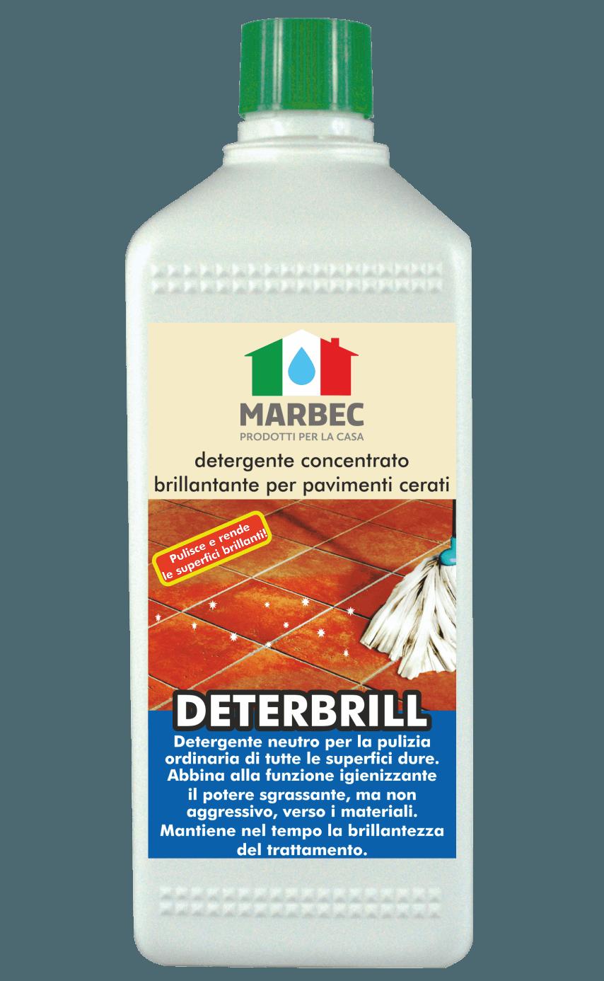 MARBEC | DETERBRILL 1lt Detergente concentrato brillantante per pavimenti cerati