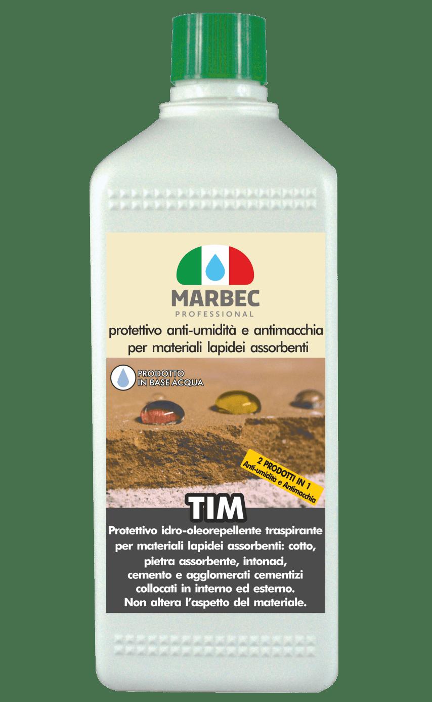 Marbec - TIM 1LT | protettivo anti-umidità e antimacchia per materiali lapidei assorbenti