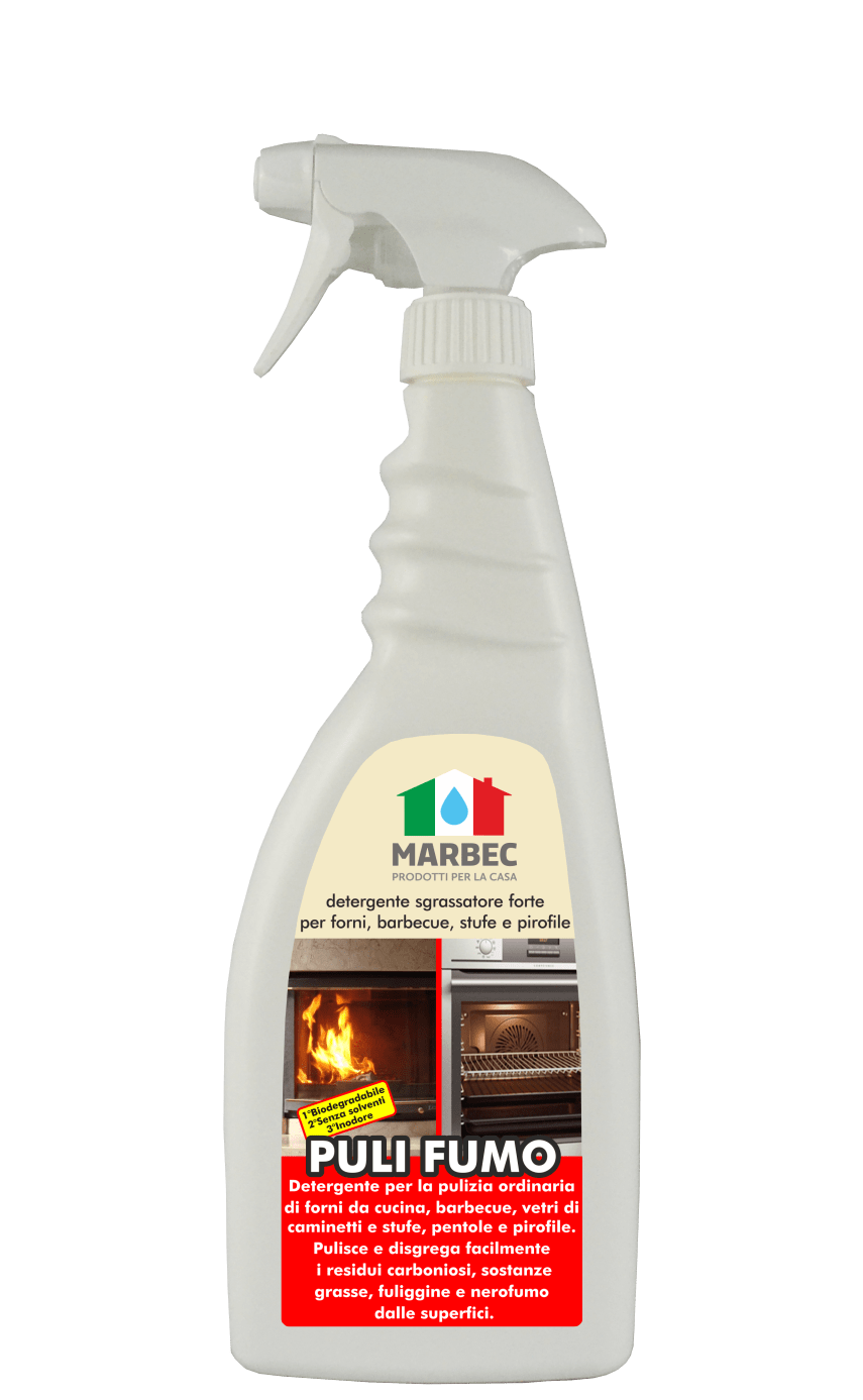 MARBEC | PULI FUMO 750ML Detergente sgrassatore forte per forni, barbecue, stufe e pirofile