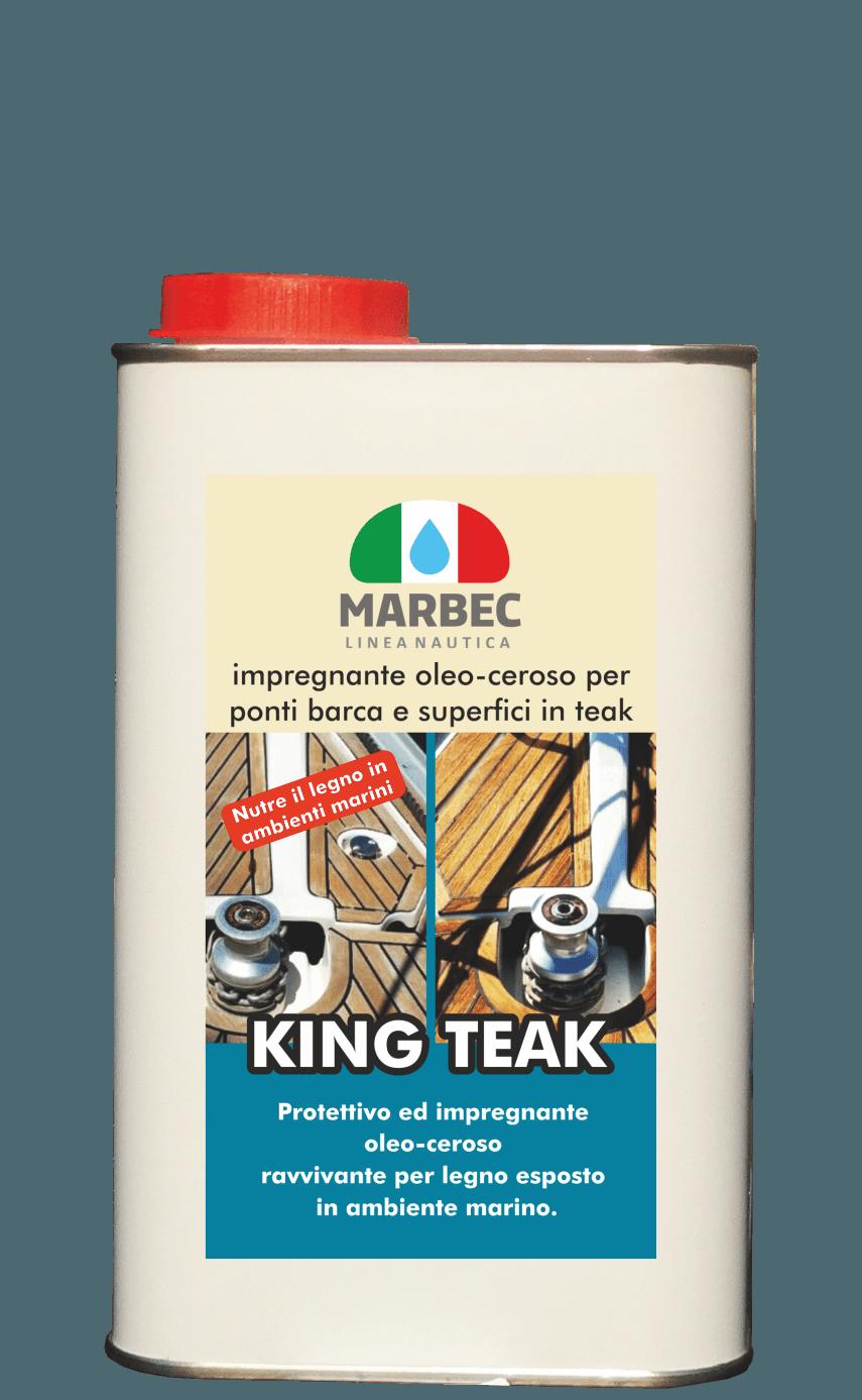 MARBEC | KING TEAK 1LT Impregnante oleo-ceroso per ponti barca e superfici in teak