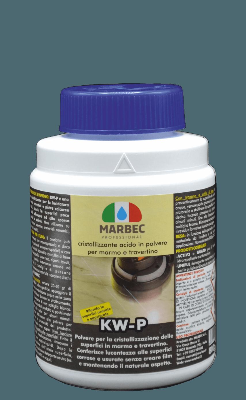 Marbec KW-P 800gr| Cristallizzante acido in polvere per la lucidatura dei marmi e travertini
