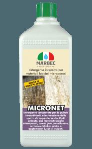 Marbec MICRONET 1lt | Detergente intensivo per materiali lapidei microporosi