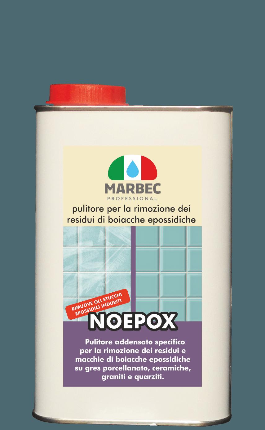 Marbec NOEPOX 1lt | Pulitore per la rimozione dei residui di boiacche epossidiche