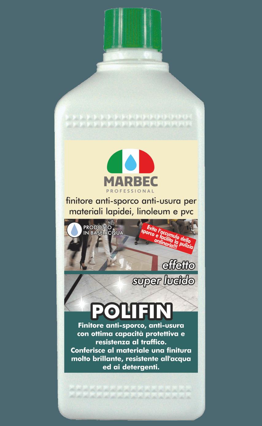 MARBEC | POLIFIN 1LT Finitore anti-usura per materiali lapidei, linoleum e pvc