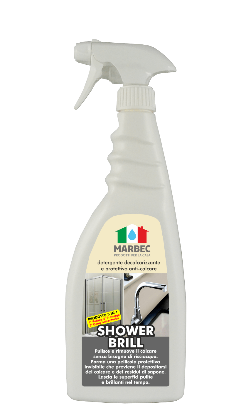 Marbec SHOWER BRILL 750ML | Detergente decalcarizzante e protettivo anti-calcare