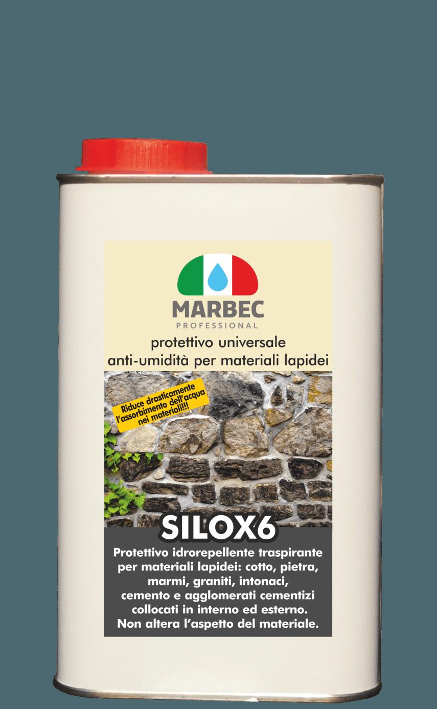MARBEC - SILOX 6 1LT | protettivo universale anti-umidità per materiali lapidei