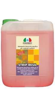Marbec - STRIP RESIL LT 5 | Detergente decerante specifico per materiali resilienti