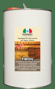 Marbec - TIROIL 5LT | Impregnante oleo-ceroso per legno interno