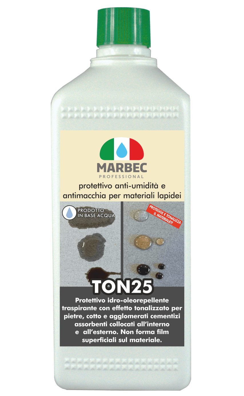 Marbec - TON25 1LT | protettivo anti-umidità e  antimacchia per materiali lapidei