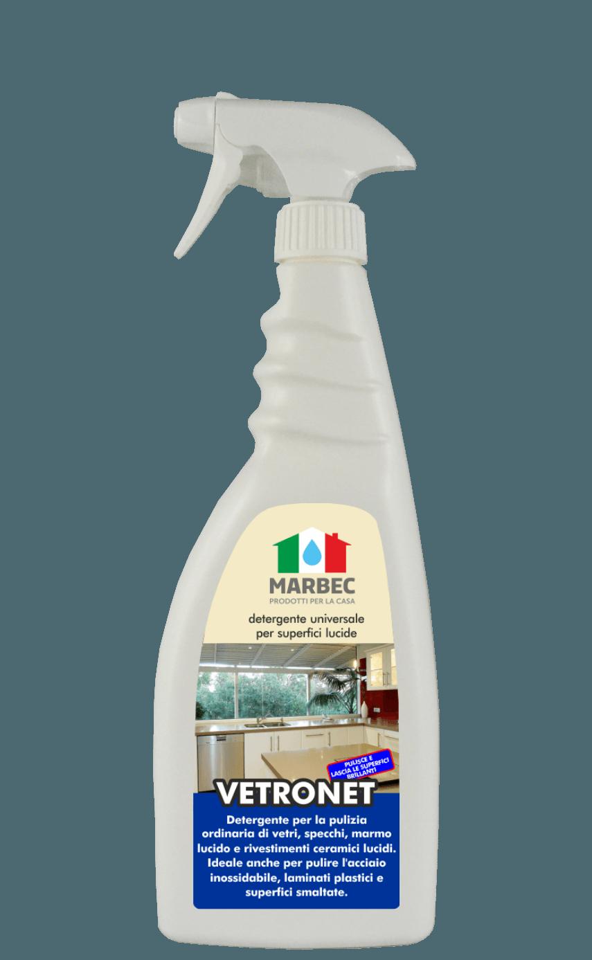 Marbec VETRONET 750ml | Detergente universale per superfici lucide