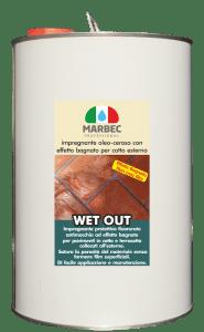 Marbec - WET OUT 5LT | Impregnante oleo-ceroso con effetto bagnato per cotto esterno