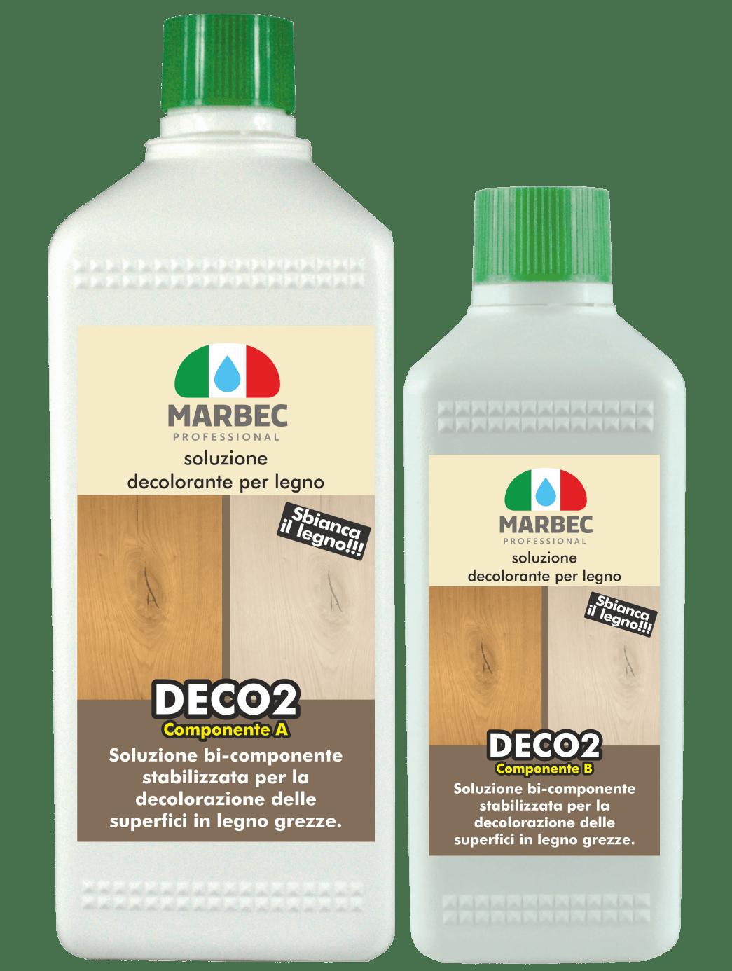 Marbec - DECO2 1lt + 200ml| Soluzione decolorante per legno