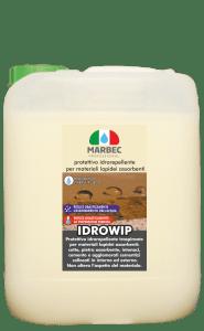 Marbec - IDROWIP 5lt | Protettivo anti-umidità per materiali lapidei assorbenti