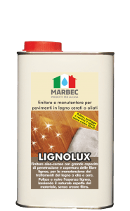 Marbec LIGNOLUX 1lt | Finitore e manutentore per pavimenti in legno cerati o oliati