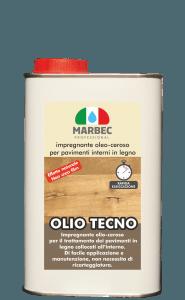 Marbec OLIO TECNO 1LT | Impregnante oleo-ceroso per pavimenti interni in legno