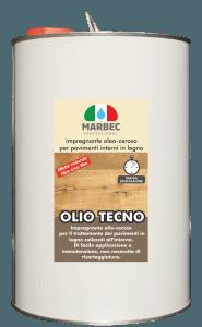 Marbec OLIO TECNO 5LT | Impregnante oleo-ceroso per pavimenti interni in legno