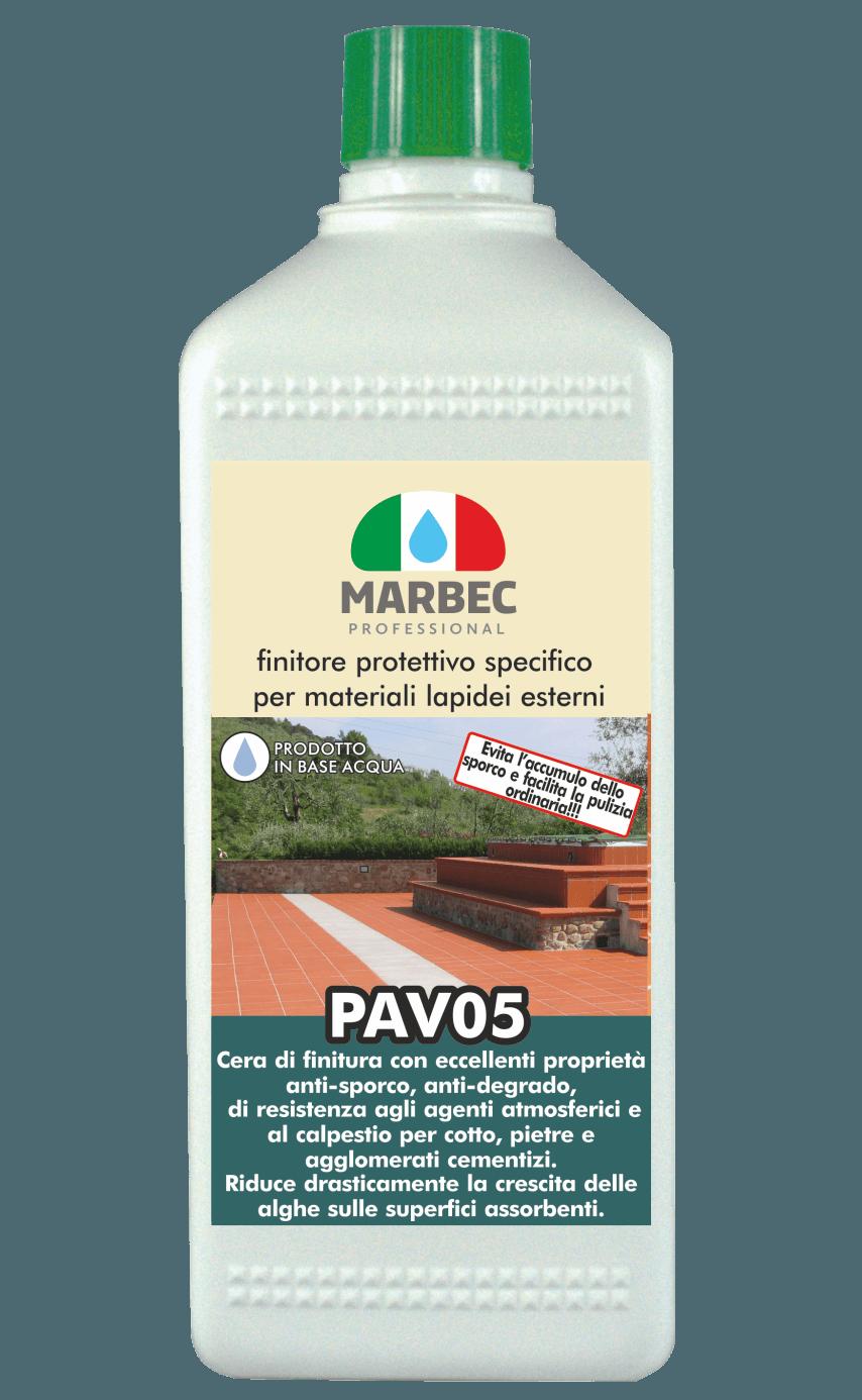 MARBEC | PAV05 1lt Finitore protettivo specifico per materiali lapidei esterni