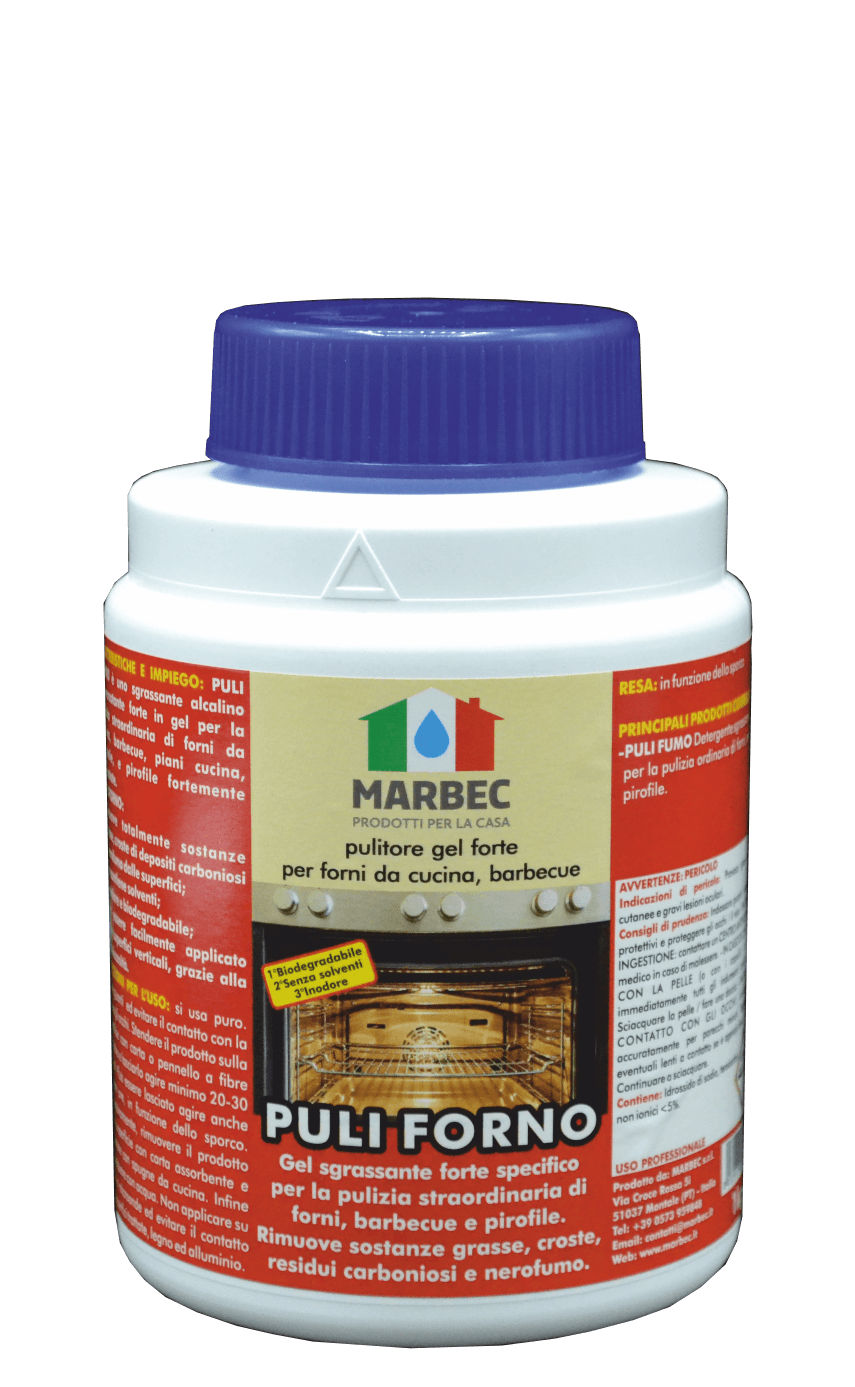 MArbec PULI FORNO 1KG | Pulitore gel forte per forni da cucina, barbecue