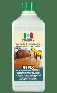 Marbec REFIX LUCIDO 1LT | cera lucida di manutenzione  per pavimenti in cotto e pietra