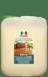 Marbec REFIX LUCIDO 5LT | cera lucida di manutenzione per pavimenti in cotto e pietra