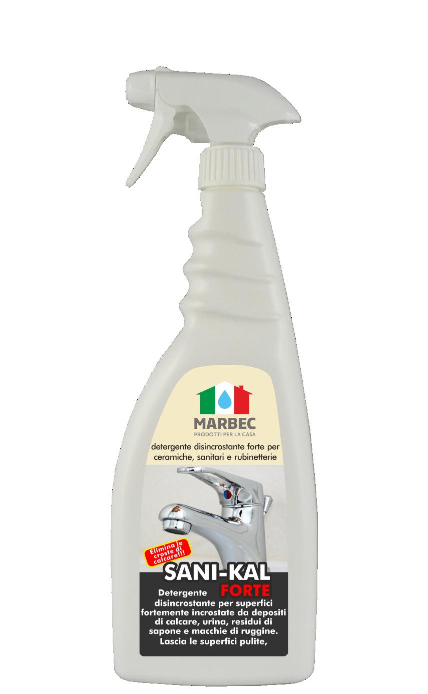 SANI-KAL FORTE 750 ML | MARBEC Detergente disincrostante forte per ceramiche, sanitari e rubinetterie