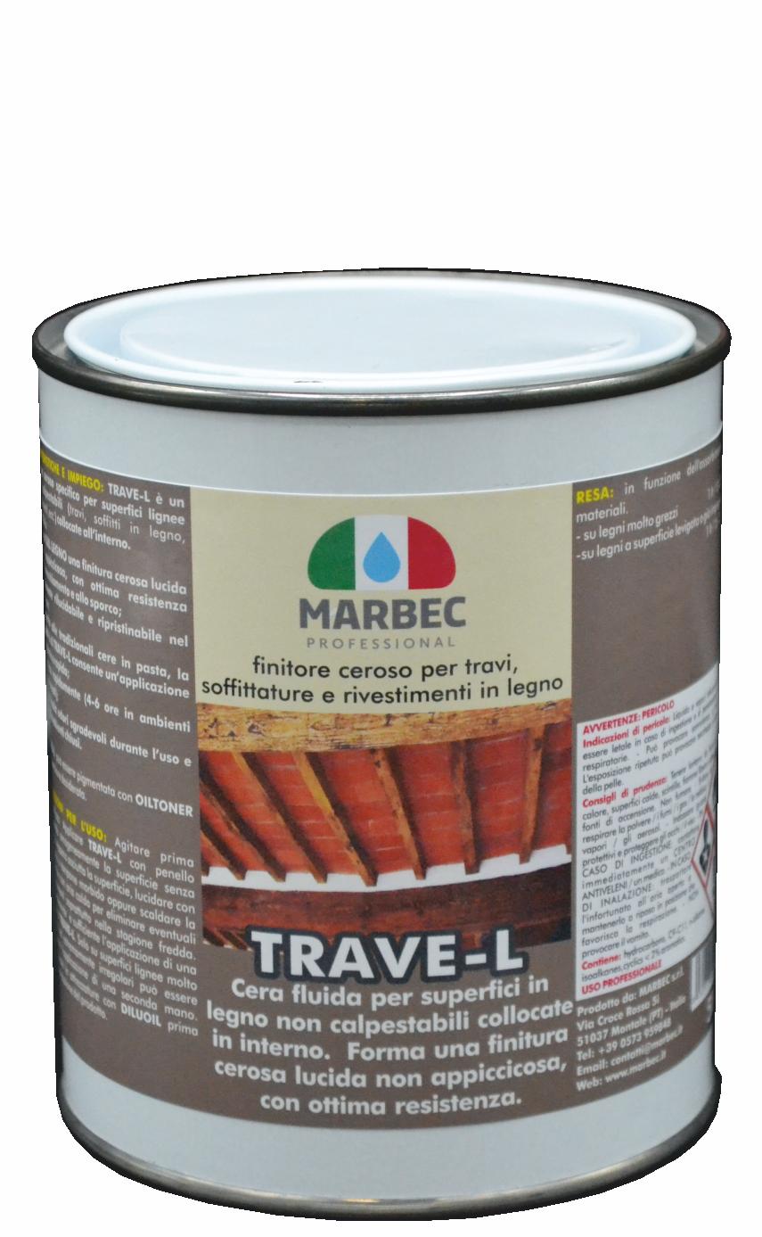 Marbec TRAVE-L 1lt | Finitore ceroso per travi, soffittature e rivestimenti in legno