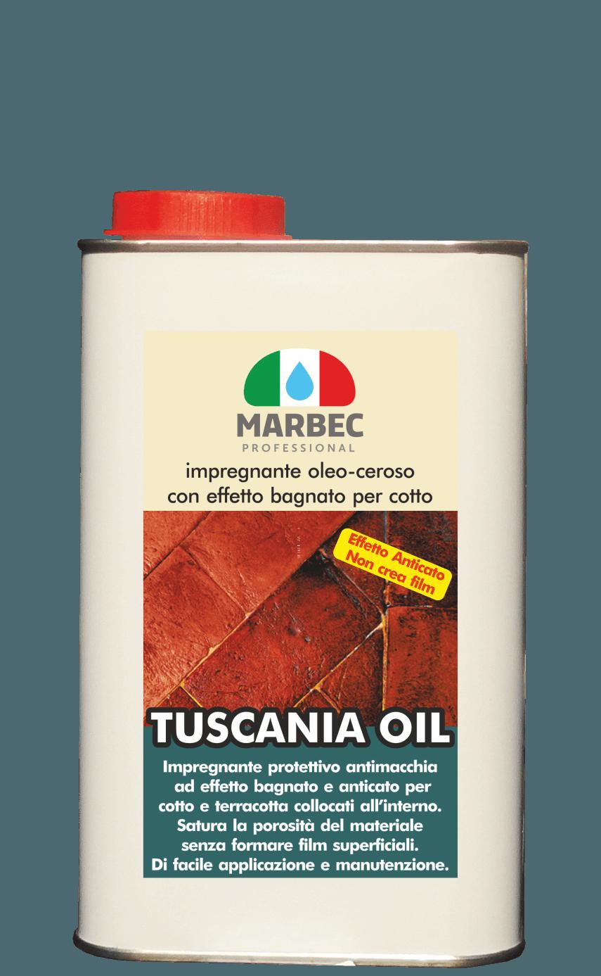 Marbec - TUSCANIA OIL 1LT | impregnante oleo-ceroso con effetto bagnato per cotto