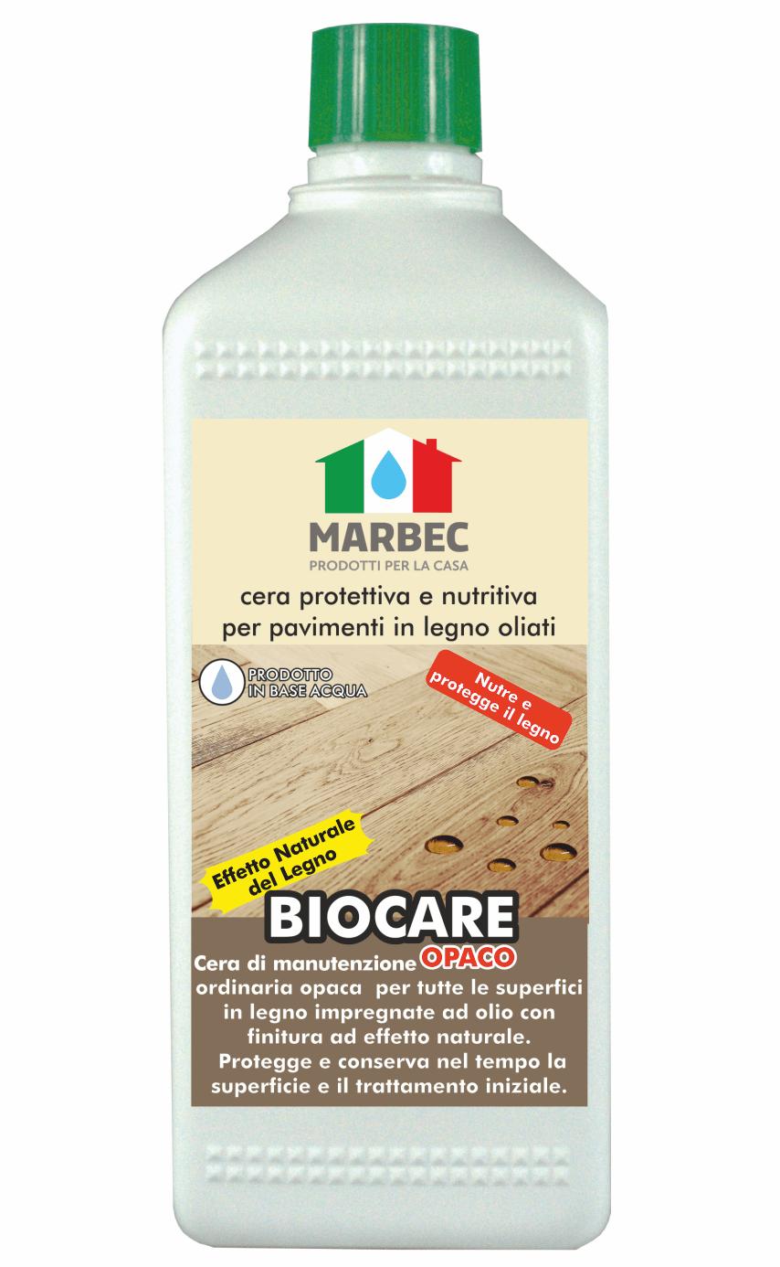 MARBEC | BIOCARE OPACO 1lt Cera protettiva e nutritiva per pavimenti in legno oliati
