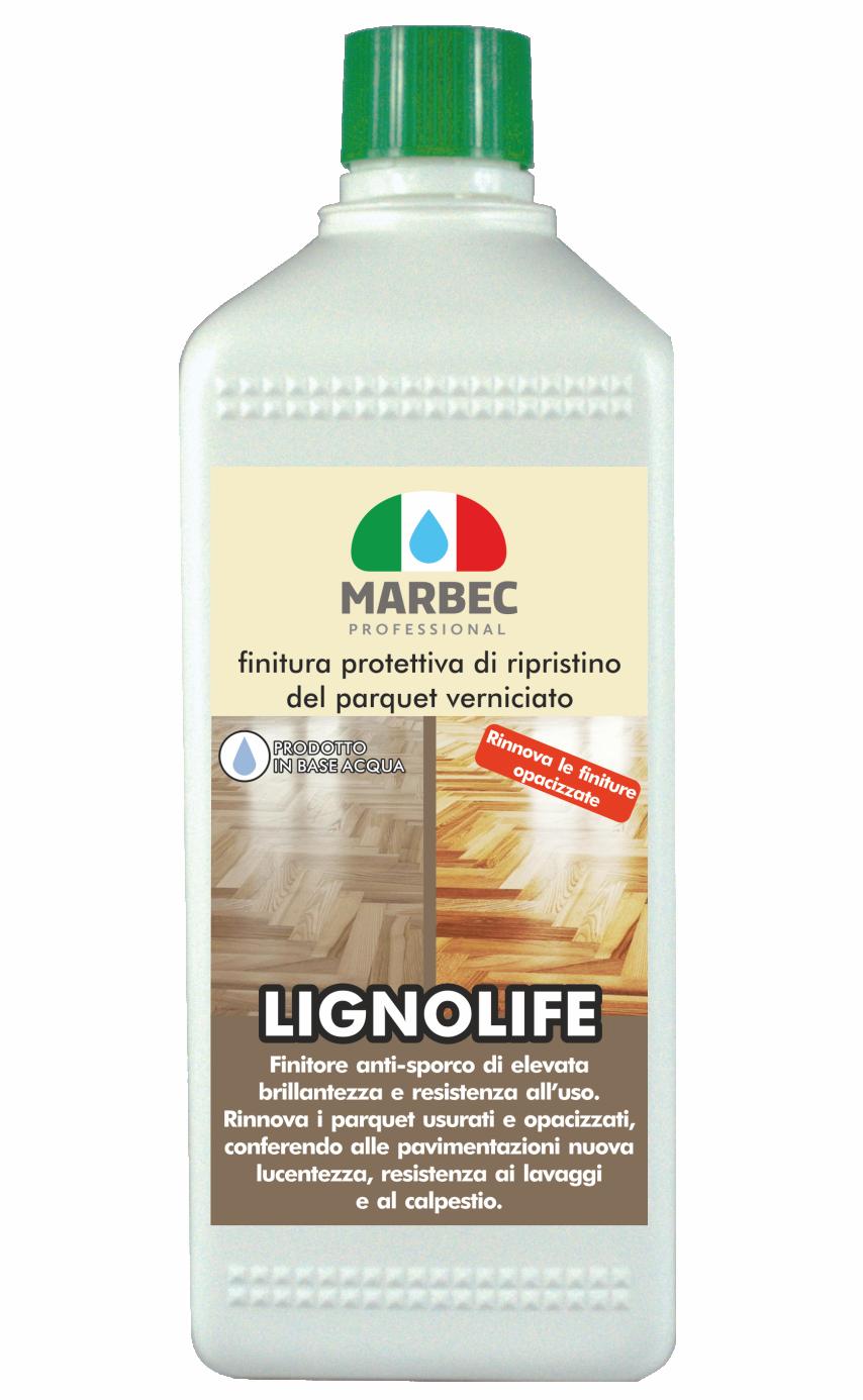 Marbec LIGNOLIFE 1lt | Finitura protettiva di ripristino del parquet verniciato