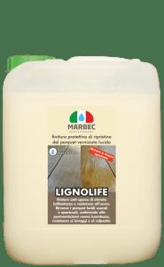 Marbec LIGNOLIFE 5lt   Finitura protettiva di ripristino del parquet verniciato lucido