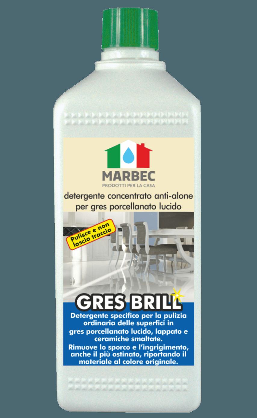 MARBEC | GRES BRILL 1lt Detergente concentrato anti-alone per gres porcellanato lucido