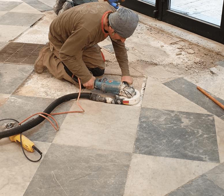lucidatura-pavimenti-marmo polishing marble floors