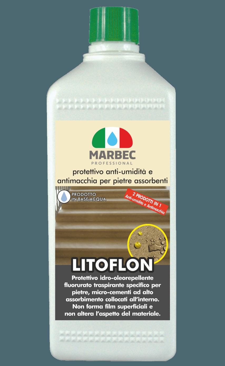 MARBEC | LITOFLON 1lt Protettivo anti-umidità e antimacchia per pietre assorbenti