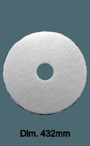Disco bianco per monospazzola Marbec 432mm| Nessuna Aggressività