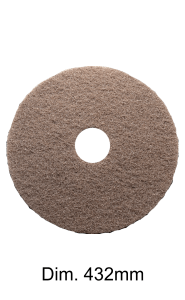 Brown disc for single disc machine 432MM Marbec | High Aggression