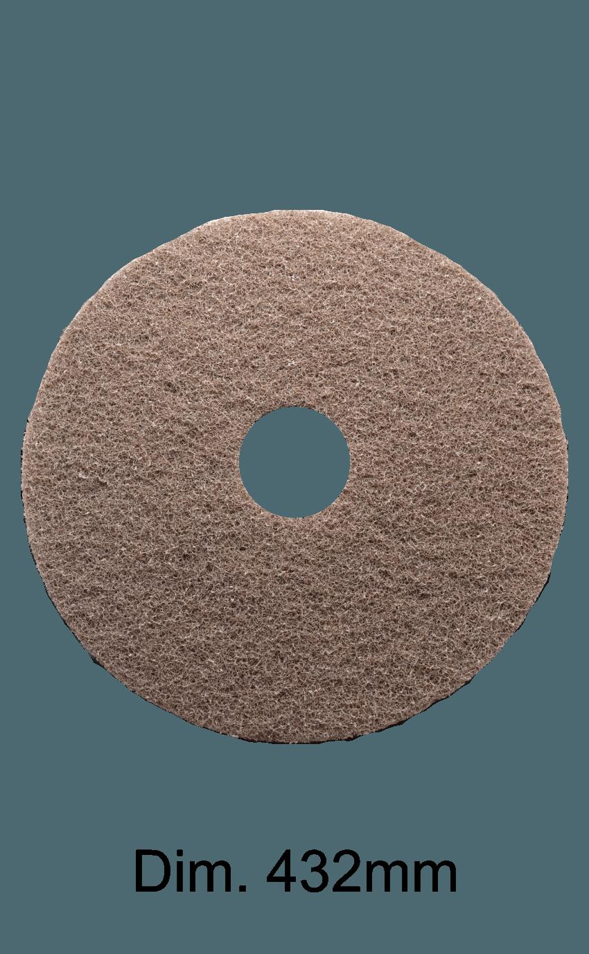 Disco marrone per monospazzola 432MM Marbec | Alta Aggressività