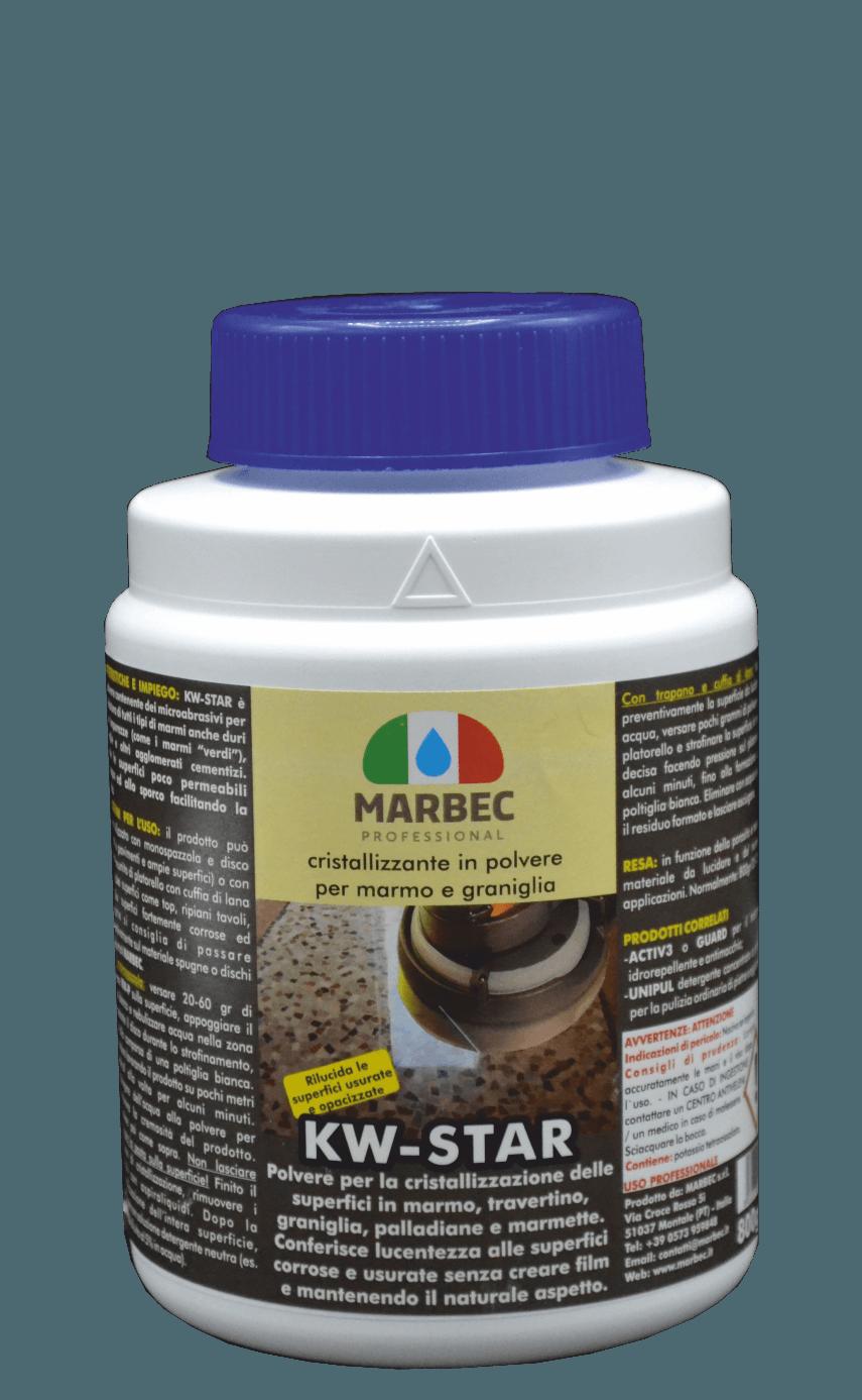 Marbec KW-STAR 800gr | cristallizzante in polvere per marmo e graniglia