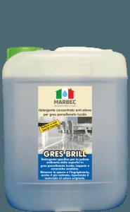 MARBEC | GRES BRILL 5lt Detergente concentrato anti-alone per gres porcellanato lucido
