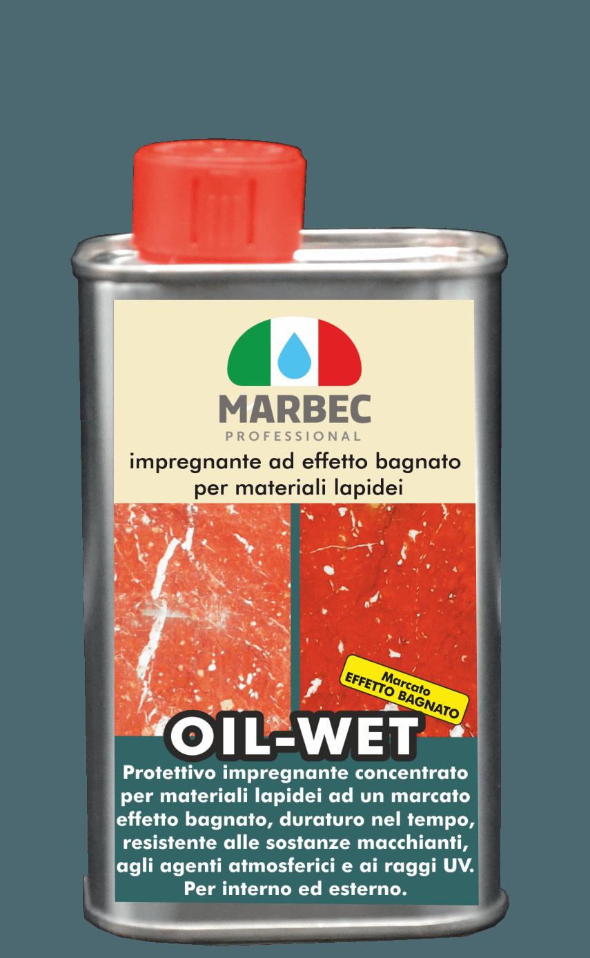 Marbec- OIL WET 250 gr Impregnante ad effetto bagnato per materiali lapidei