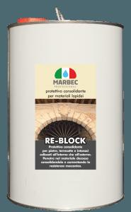 MARBEC - RE-BLOCK 5LT | Protettivo consolidante per materiali lapidei