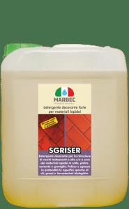 Marbec SGRISER 5LT | detergente decerante forte per materiali lapidei